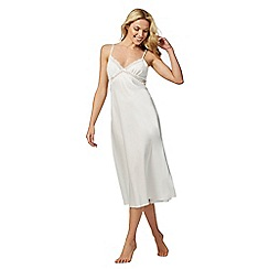 The Collection - Ivory lace satin night dress