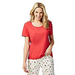 Lounge & Sleep - Red sleep t-shirt with pocket