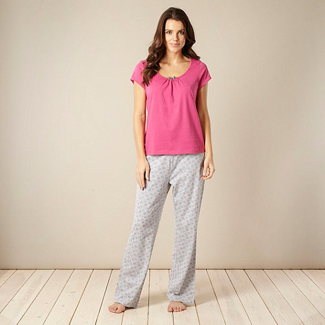 Presence - Pink and grey dotted heart pyjamas