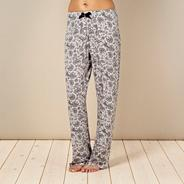 Grey digital floral pyjama bottoms