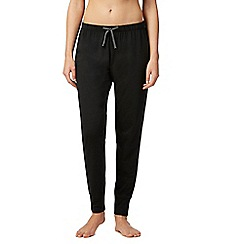 Lounge & Sleep - Black cuffed pyjama pants