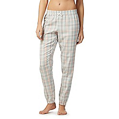 Lounge & Sleep - Multi-coloured check print cotton pyjama bottoms