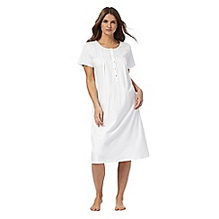 Lounge & Sleep - White broderie cotton nightdress
