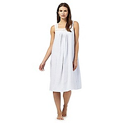 Lounge & Sleep - Blue block print nightdress