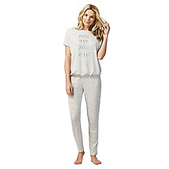 Lounge & Sleep - Grey sleep phrases pyjama set