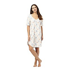 Lounge & Sleep - Ivory butterfly print nightdress