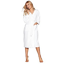 J by Jasper Conran - White towelling dressing gown