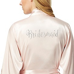 The Collection - Light pink satin 'Bridesmaid' kimono