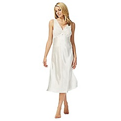 The Collection - Ivory bridal satin lace nightdress