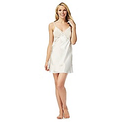 The Collection - Ivory bridal satin lace chemise