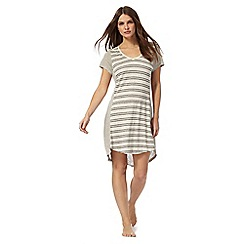 J by Jasper Conran - Grey striped night shirt