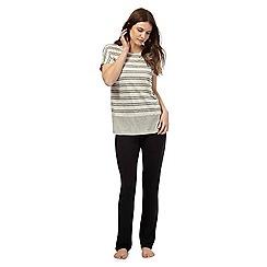 J by Jasper Conran - Grey striped pyjama set
