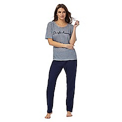 Lounge & Sleep - Blue striped pyjama set