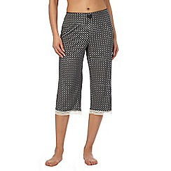 J by Jasper Conran - Black printed cropped pyjama bottoms