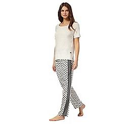 J by Jasper Conran - White star print pyjama set