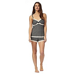 J by Jasper Conran - Black tile pattern cami and shorts set