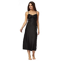 J by Jasper Conran - Black lace trim night dress