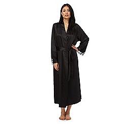 J by Jasper Conran - Black lace satin dressing gown