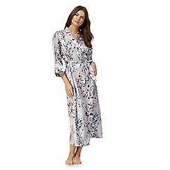 The Collection - Multi-coloured floral print dressing gown