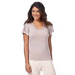Gorgeous DD+ - Taupe hidden support short sleeve pyjama top
