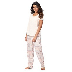 Gorgeous DD+ - Light pink patterned pyjama set