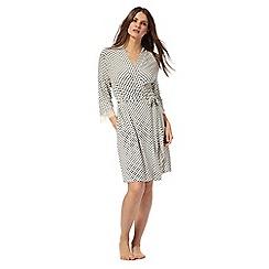 J by Jasper Conran - White floral print dressing gown