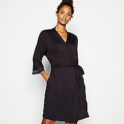 J by Jasper Conran - Black lace dressing gown
