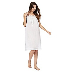 Lounge & Sleep - White Broderie Anglaise nightdress