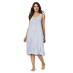 Lounge & Sleep - Blue pin stripe night dress