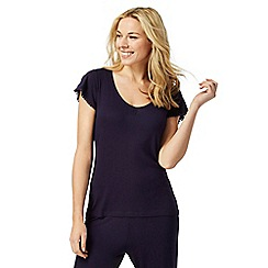 Lounge & Sleep - Blue cap sleeve pyjama top
