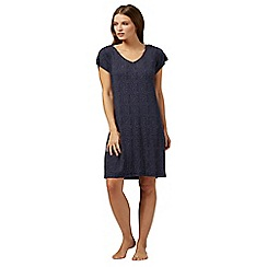 Lounge & Sleep - Blue broken stripe print nightdress