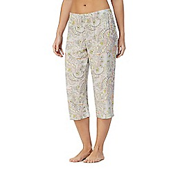 Lounge & Sleep - Multi-coloured paisley print cropped pyjama bottoms