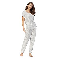 Lounge & Sleep - White paisley print pyjama set