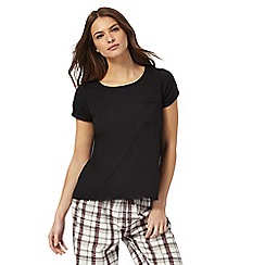Lounge & Sleep - Black short sleeved pyjama top