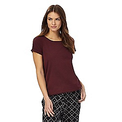 Lounge & Sleep - Dark red short sleeved pyjama top