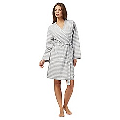Lounge & Sleep - Grey stripe print dressing gown
