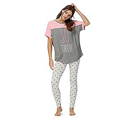 Iris & Edie - Pink 'So Tired' pyjama set