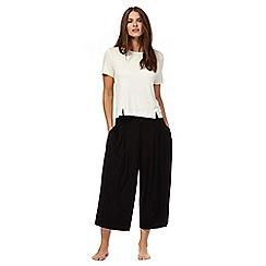 J by Jasper Conran - Black jersey pyjama pyjama set