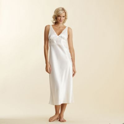 Ivory Embellished Full Length Nightdress