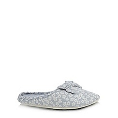Lounge & Sleep - Blue floral slippers