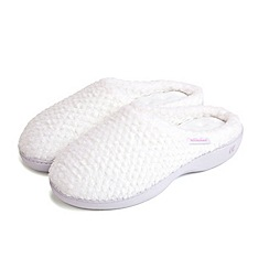 Totes - White mule slippers