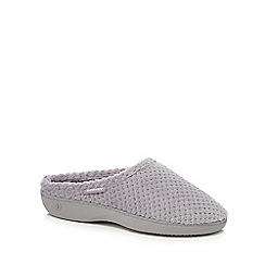 Totes - Grey 'Popcorn' mule slippers