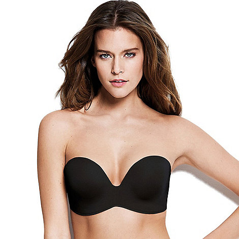 Wonderbra - Black non-wired padded strapless bra