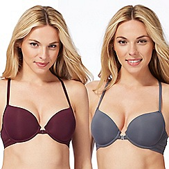 The Collection - 2 pack assorted underwired non-padded t-shirt bra