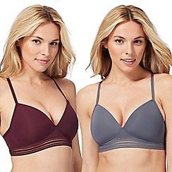 The Collection - 2 pack assorted non-wired padded t-shirt bra