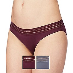 The Collection - 2 pack assorted bikini knickers