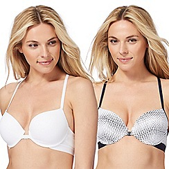 The Collection - 2 pack white underwired padded t-shirt bras
