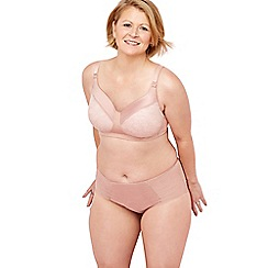 The Collection - Pink lace satin non-wired padded mastectomy bra