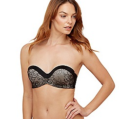The Collection - Black lace underwired padded multi-way bra