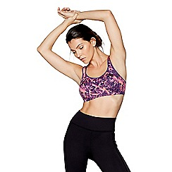 Shock Absorber - Purple print 'Active Multi Support' sports bra